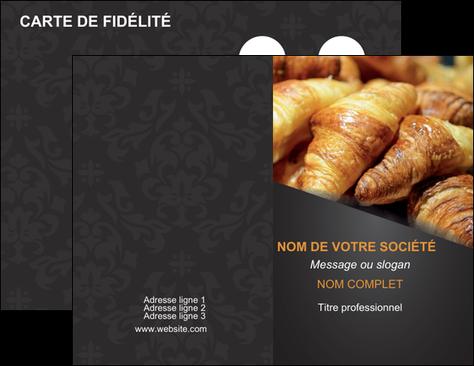 Exemple Carte De Visite Boulangerie Maquette Croissant Patisserie MLGI33117