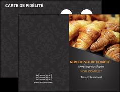 exemple carte de visite boulangerie maquette boulangerie croissant patisserie MIF33117