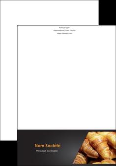 modele tete de lettre boulangerie maquette boulangerie croissant patisserie MIF33119