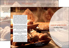 imprimer depliant 3 volets  6 pages  boulangerie pain brioches boulangerie MLGI33267