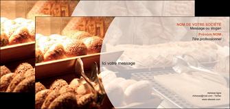 personnaliser maquette carte de correspondance boulangerie pain brioches boulangerie MLGI33271