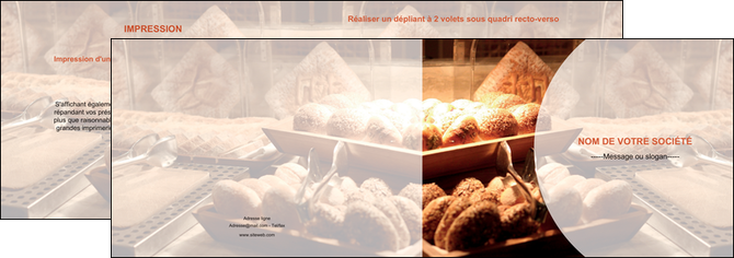 modele en ligne depliant 2 volets  4 pages  boulangerie pain brioches boulangerie MLGI33277