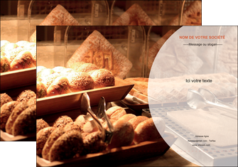 personnaliser maquette pochette a rabat boulangerie pain brioches boulangerie MLGI33279