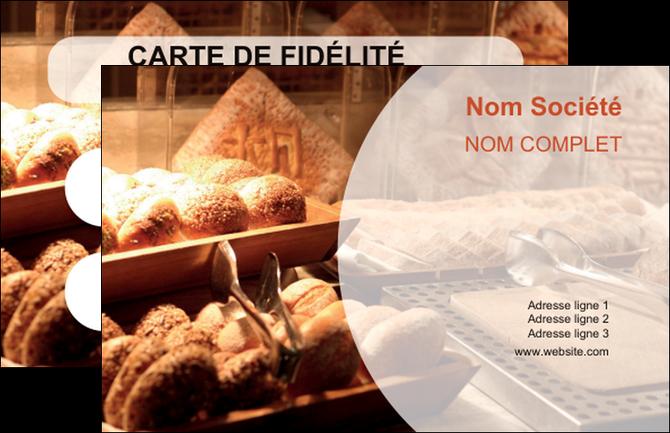 maquette en ligne a personnaliser carte de visite boulangerie pain brioches boulangerie MLGI33283