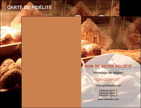 cree carte de visite boulangerie pain brioches boulangerie MIF33285