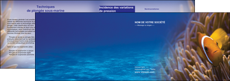 realiser depliant 2 volets  4 pages  paysage belle photo nemo poisson MLGI33459