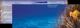 realiser depliant 2 volets  4 pages  paysage belle photo nemo poisson MIS33461