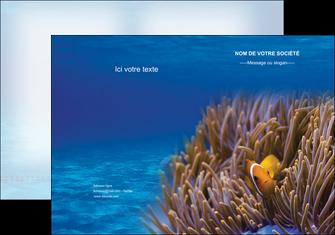 personnaliser maquette pochette a rabat paysage belle photo nemo poisson MLGI33465