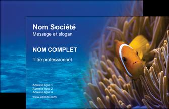 creer modele en ligne carte de visite paysage belle photo nemo poisson MLGI33467