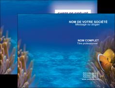 maquette en ligne a personnaliser carte de visite paysage belle photo nemo poisson MLGI33469