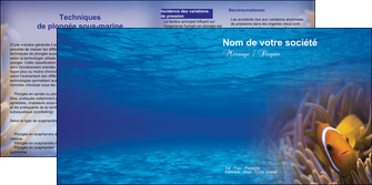 creer modele en ligne depliant 2 volets  4 pages  paysage belle photo nemo poisson MLGI33477