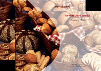 personnaliser modele de flyers boulangerie pain boulangerie patisserie MLGI33521