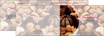 creation graphique en ligne depliant 2 volets  4 pages  boulangerie pain boulangerie patisserie MIF33533