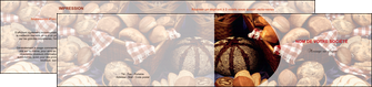 creation graphique en ligne depliant 2 volets  4 pages  boulangerie pain boulangerie patisserie MIF33535