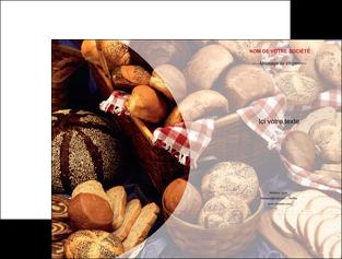 imprimerie pochette a rabat boulangerie pain boulangerie patisserie MIF33537