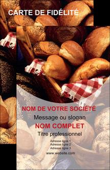 exemple carte de visite boulangerie pain boulangerie patisserie MIF33541