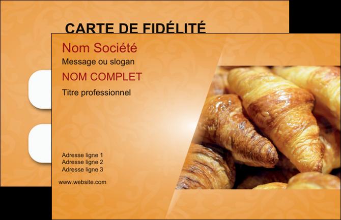 Impression Carte De Visite Boulangerie Croissants Patisserie MLGI33759