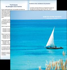 realiser depliant 2 volets  4 pages  paysage faire part de mariage carte de mariage invitation mariage MIS33765