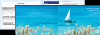 exemple depliant 2 volets  4 pages  paysage faire part de mariage carte de mariage invitation mariage MIS33777