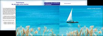 impression depliant 2 volets  4 pages  paysage faire part de mariage carte de mariage invitation mariage MIS33779