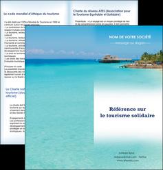 cree depliant 2 volets  4 pages  paysage plage vacances tourisme MLGI33811