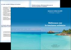 exemple depliant 2 volets  4 pages  paysage plage vacances tourisme MLGI33813