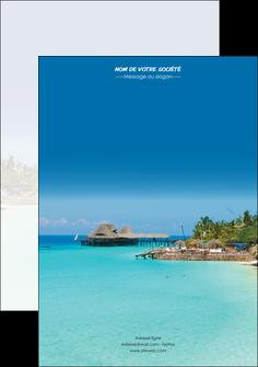 faire flyers paysage plage vacances tourisme MLGI33815