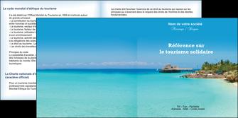 faire modele a imprimer depliant 2 volets  4 pages  paysage plage vacances tourisme MLGI33817