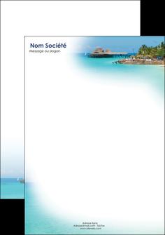 maquette en ligne a personnaliser tete de lettre paysage plage vacances tourisme MLGI33821