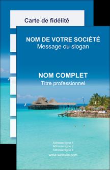 faire carte de visite paysage plage vacances tourisme MLGI33823