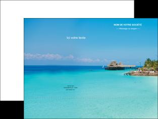 creation graphique en ligne pochette a rabat paysage plage vacances tourisme MLGI33827