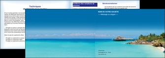 modele en ligne depliant 2 volets  4 pages  paysage plage vacances tourisme MLGI33829
