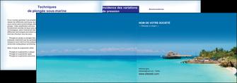 imprimerie depliant 2 volets  4 pages  paysage plage vacances tourisme MLGI33831