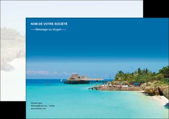 personnaliser modele de affiche paysage plage vacances tourisme MLGI33837