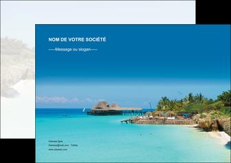 cree affiche paysage plage vacances tourisme MLGI33841