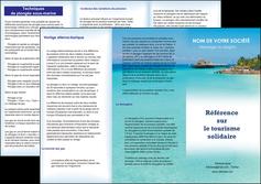 Modele Depliant 3 Volets 6 Pages Tourisme A Personnaliser