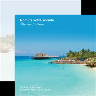 creation graphique en ligne flyers paysage plage vacances tourisme MLGI33845