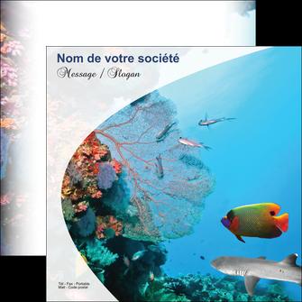 modele flyers chasse et peche plongeur corail poissons MIS33851