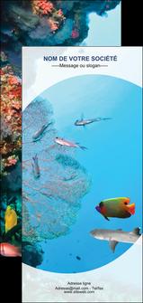 modele flyers chasse et peche plongeur corail poissons MIS33853