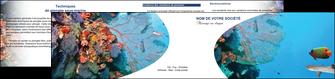 imprimer depliant 2 volets  4 pages  chasse et peche plongeur corail poissons MIS33863