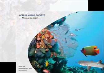 imprimerie affiche chasse et peche plongeur corail poissons MIS33877