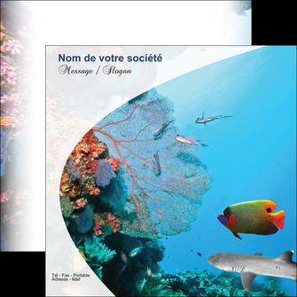 imprimerie flyers chasse et peche plongeur corail poissons MIS33881