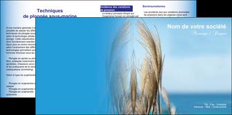 personnaliser maquette depliant 2 volets  4 pages  paysage plante nature ciel MLGI33885