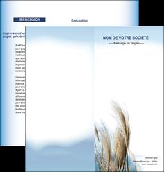 creation graphique en ligne depliant 2 volets  4 pages  paysage plante nature ciel MLGI33887