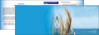 realiser depliant 2 volets  4 pages  paysage plante nature ciel MLGI33899