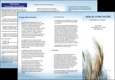 creer modele en ligne depliant 3 volets  6 pages  paysage plante nature ciel MLGI33913