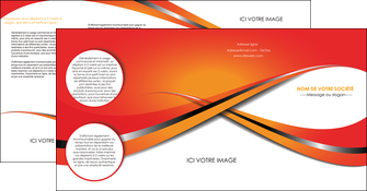 faire modele a imprimer depliant 4 volets  8 pages  texture contexture structure MIF33961