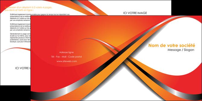 personnaliser maquette depliant 2 volets  4 pages  texture contexture structure MLGI33983