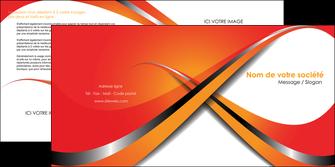 personnaliser maquette depliant 2 volets  4 pages  texture contexture structure MIF33983