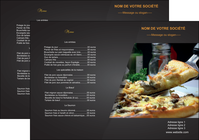 imprimer set de table pizzeria et restaurant italien pizza pizzeria restaurant italien MLGI34005